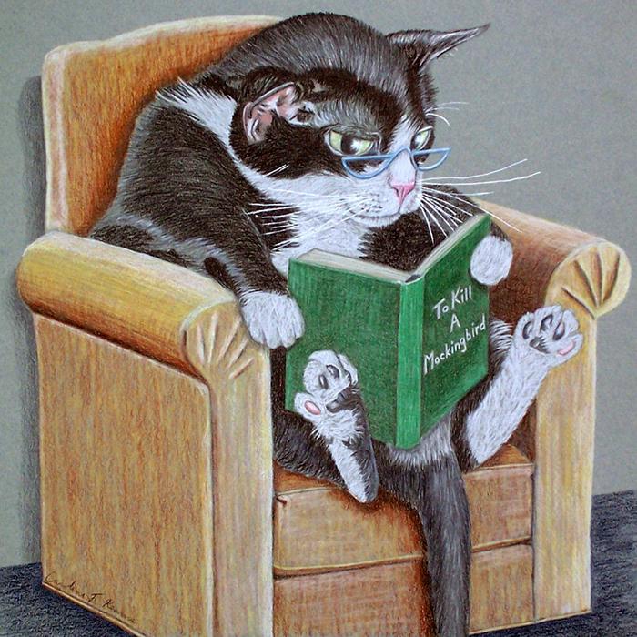 модели картинки кот ученый с книгой одной простой