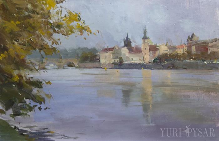 vltava-original-painting-prague (700x450, 288Kb)