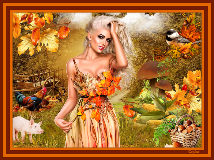 Collage Autumn Girl (700x523, 608Kb)