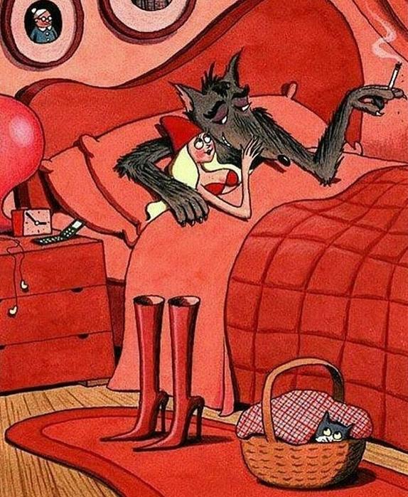 Красная шапочка смешная картинка