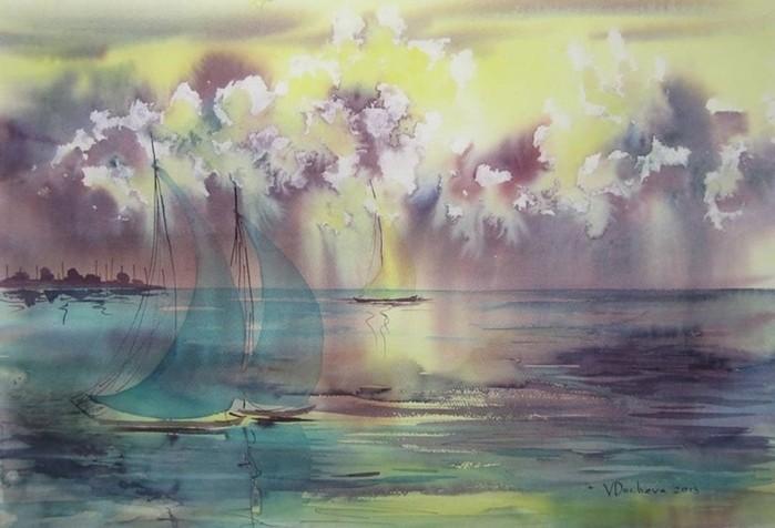 Художник Венета Дочева. Волшебные акварели