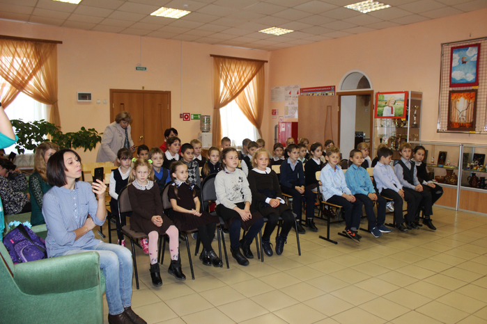 Юные слушатели. Учащиеся вторых классов Головчинской СОШ с УИОП
