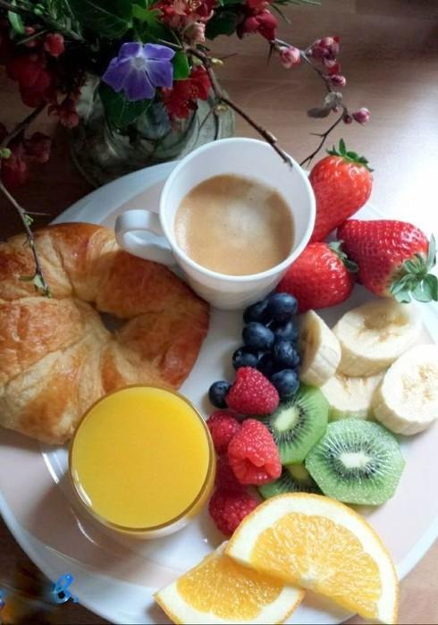 утренний кофе и фрукты фото факторы