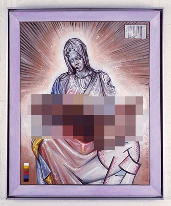 Богородица с гигантским пенисом на руках