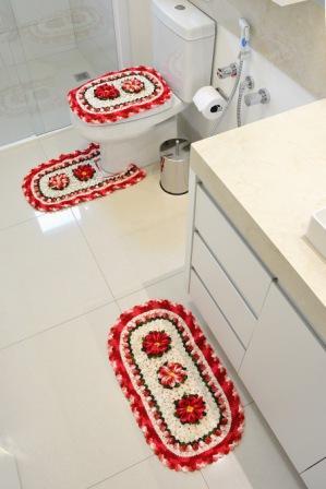 Рождественский вязаный комплект ковриков для ванной комнаты (1) (299x448, 85Kb)