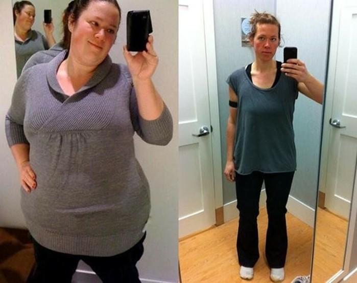 Девушка сбросила 72,5 кг за 1 год