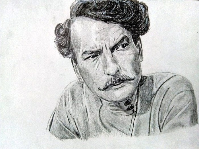 Портреты советских актёров простым карандашом