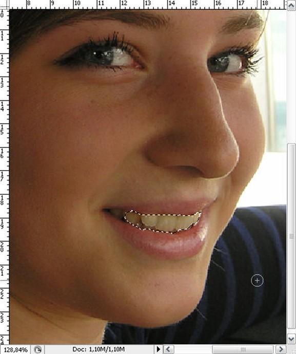 Как сделать зубы белыми (Photoshop)