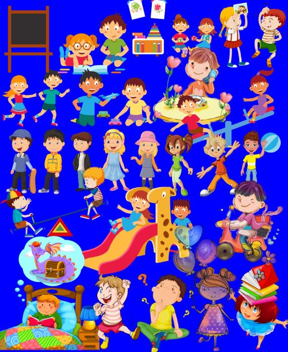Дети: клипарт на прозрачном фоне, 42 png. Часть 3.