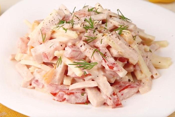 салат из помидор ветчины и сыра с картинками целей осень