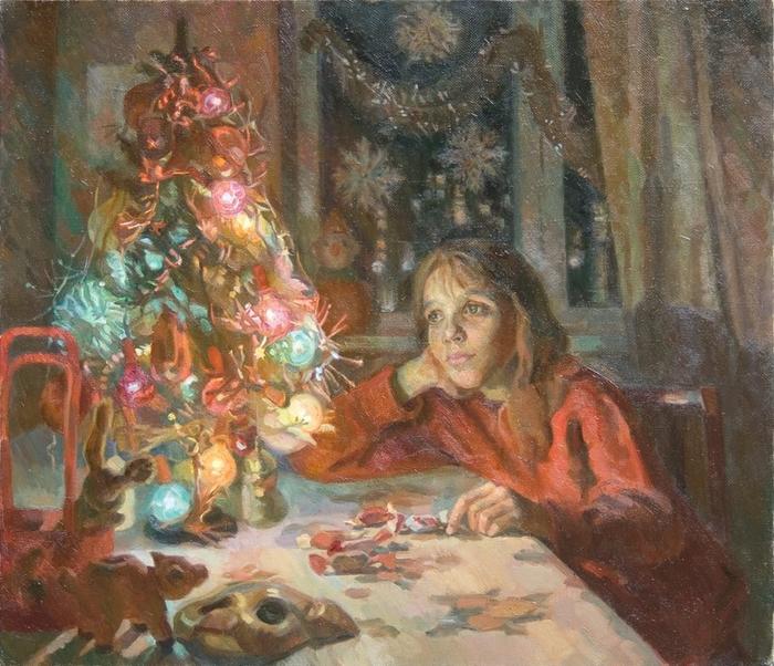 Цагараев Максим  У новогодней ёлки (700x602, 495Kb)