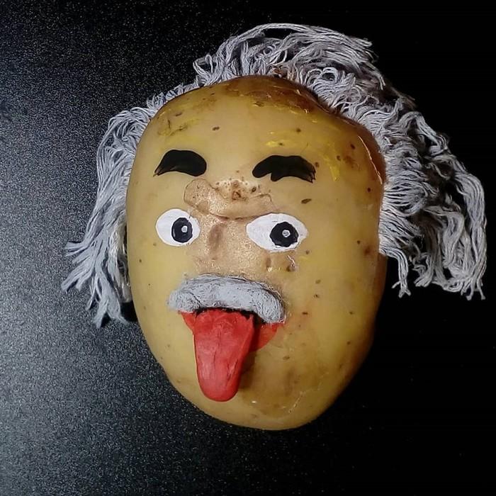 Портреты знаменитостей, картины и персонажи из картошки