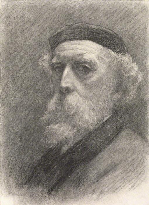 1899 Автопортрет. Бум, черный мел. 30,2 х 26,9 см. Нац портрет. гал, Лондон (510x700, 141Kb)