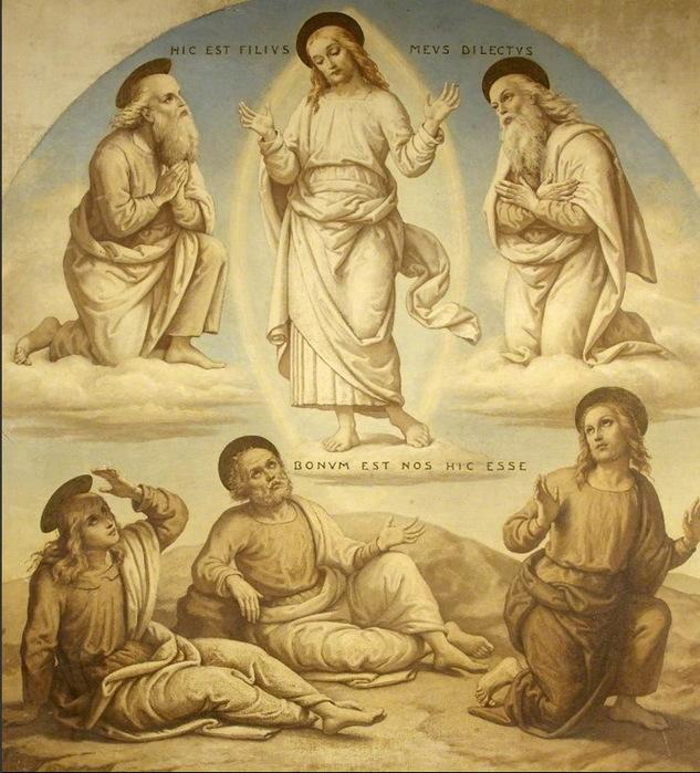 1882 The Transfiguration (после Перуджино) Х, м. 133 x 120 cm. Tyntesfield - National Trust  Wraxall  United Kingdom (633x700, 156Kb)