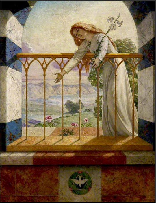 1897 Благословенная Дева (The Blessed Damozel) Х, м. 142 x 110,5 cm. Salford Museum and Art Gallery, Salford Англия (540x700, 150Kb)