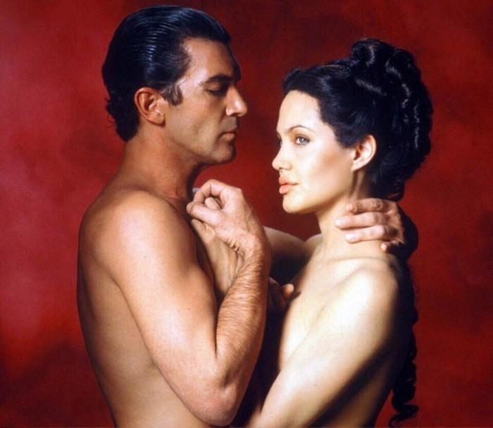 Анджелина Джоли и Антонио Бандерас   фотосессия для презентации фильма «Соблазн»