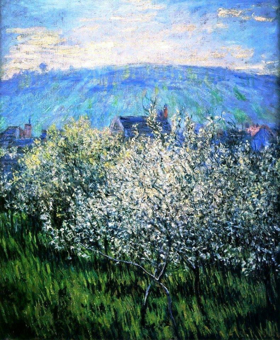 4 Claude Monet - Plums blossom. 1879 (576x700, 607Kb)