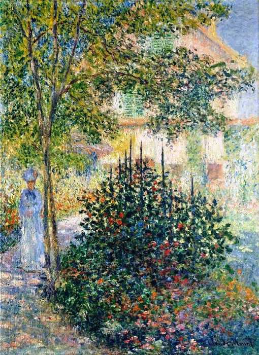 6 Camille Monet in the Garden at the House in Argenteuil, 1876 - Claude Monet (510x700, 581Kb)