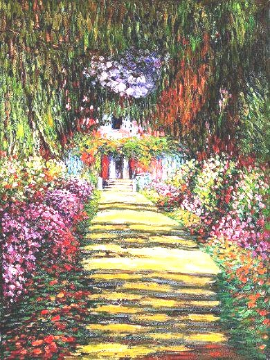 10 Claude Monet- Garden Path at Giverny iii (390x520, 306Kb)