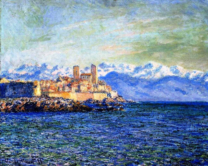 19 Claude Monet - the old fort in antibes, 1888 (700x560, 580Kb)