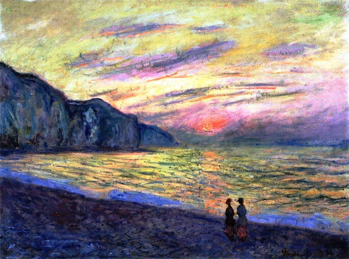 20 Claude Monet - Sunset a Pourville. (700x519, 504Kb)