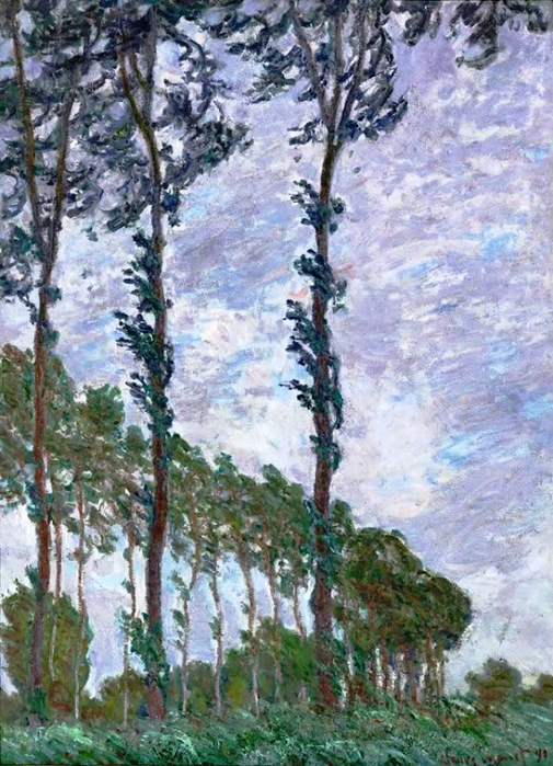 44 Claude Monet - Poplars wind effect. 1891 (505x700, 449Kb)