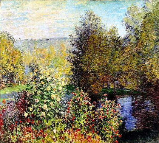 49 Claude Monet, (1840 -1926) Corner of the Garden at Montgeron (1876) (533x480, 358Kb)