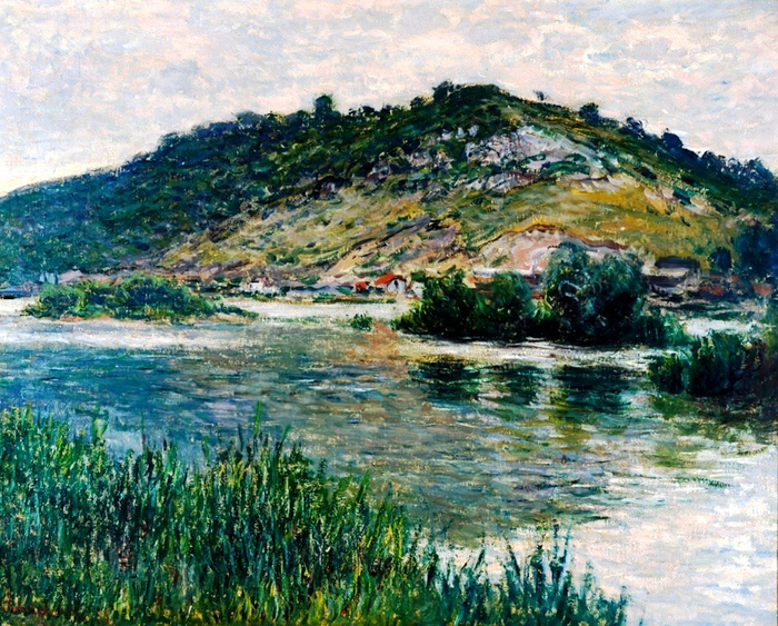 58 Claude Monet - Landscape in Port-Villez, 1883. Oil on panel, 65.3 x 81.5 cm. Museo Soumaya, Mexico City, Mexico (700x563, 593Kb)