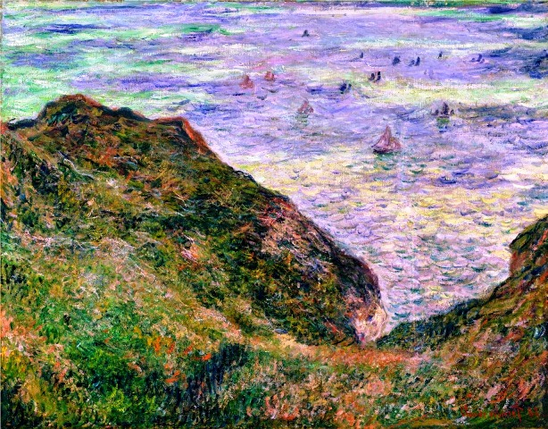 64 Claude Monet - View over the sea, 1882. Oil on canvas, 64 x 82 cm. Nationalmuseum, Stockholm, Sweden (614x480, 450Kb)