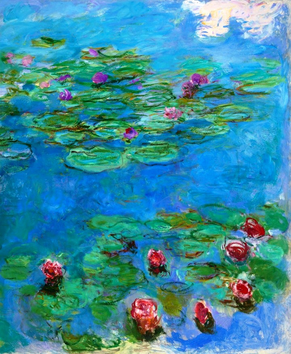 72Claude Monet - Water Lilies, c. 1914-17. Oil on canvas, Legion of Honor Museum, San Francisco, CA, USA (574x700, 569Kb)