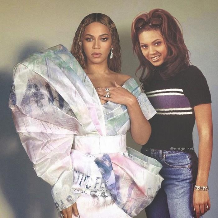 Селфи знаменитостей со своей молодой версией в фотошоп