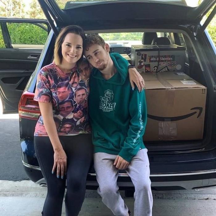 34 летняя мама со своим сыном