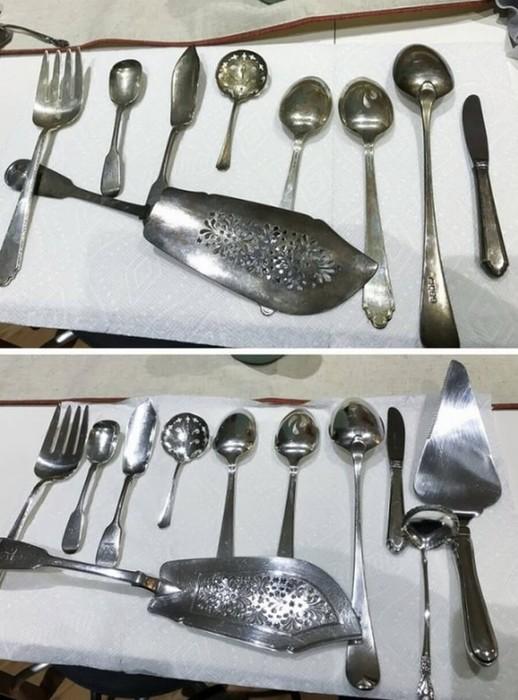 Вещи до и после чистки