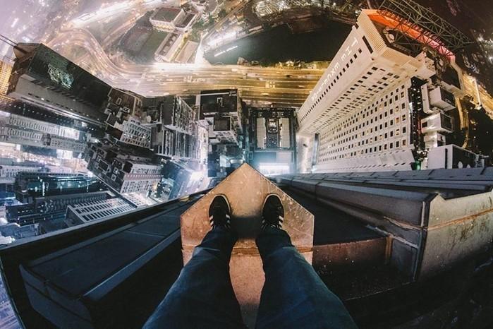 Фотографии с крыш небоскребов, сделанные «Человеком пауком»