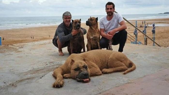 Песчаные скульптуры Андони Бастаррики
