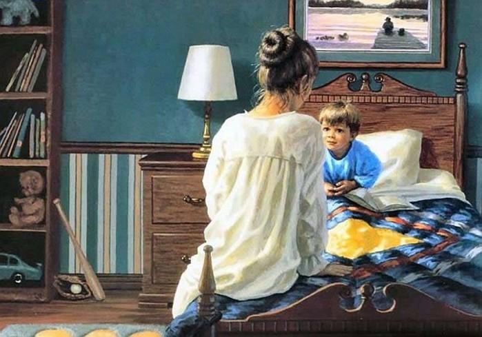 Картины «Мамы и дети»