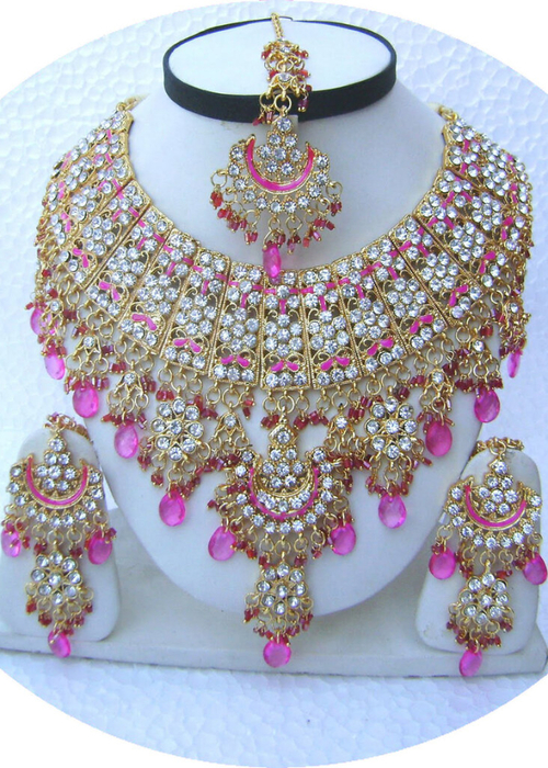 Pink-Half-Moon-Pendant-Golden-Base-Necklace-Set-with-Tika[1] (500x700, 485Kb)