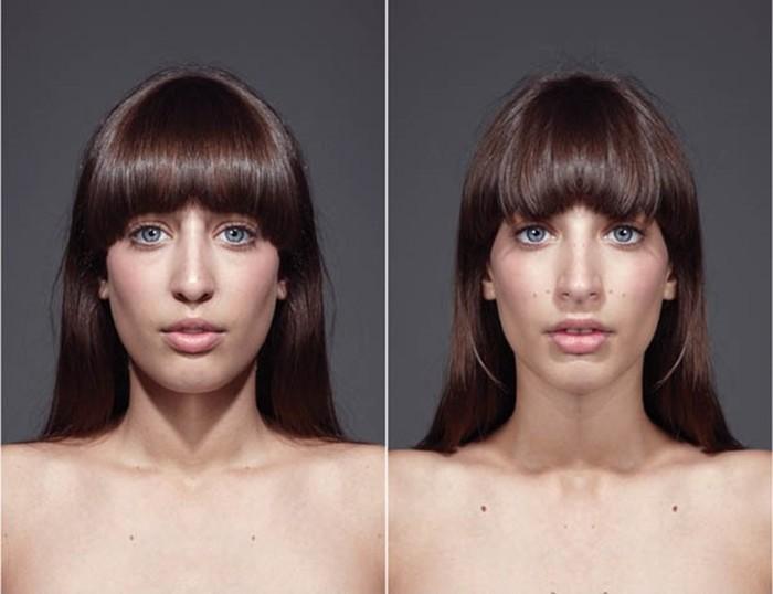 Британская девушкой с идеальными пропорциями лица