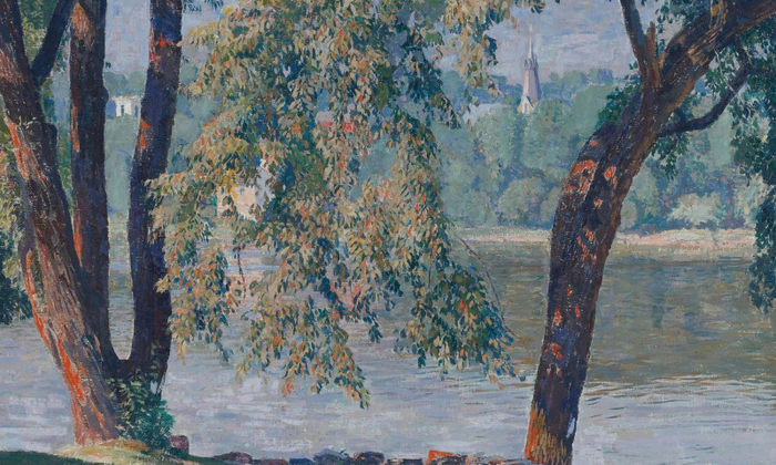 daniel-garber-elm-bough-kartina-priroda (700x420, 436Kb)
