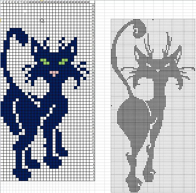 Варежки с котами 12 (640x631, 471Kb)