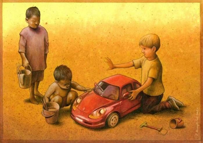 Острые сатирические иллюстрации Павла Кучински