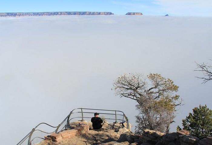 Море облаков в Гранд Каньоне
