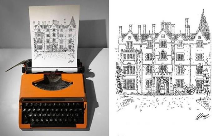 Картинки, сделанные на пишущей машинке