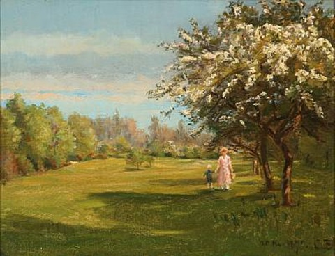 christian-peder-mørch-zacho-mother-and-son-walking-in-a-garden (480x368, 69Kb)
