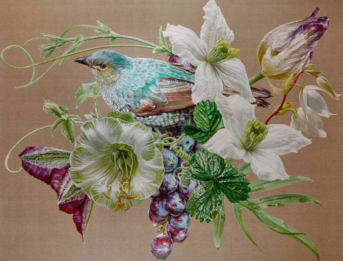 12-Jade Bird of Dreams and Tranquility, 2015, oil on linen, 192 x 252cm (700x532, 389Kb)