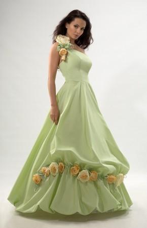 Re: Свадебные платья зеленого цвета.