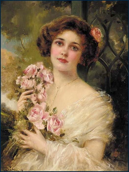 Emile Vernon - The blushing English rose.