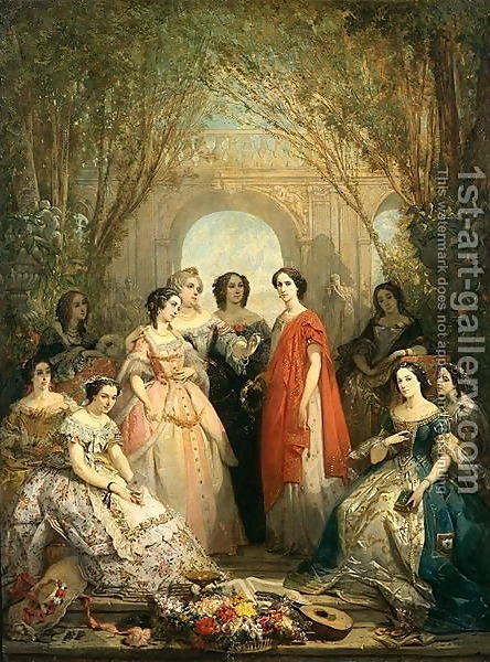 Faustin Besson : The Women of the Comedie Francaise in their Costumes, 1855