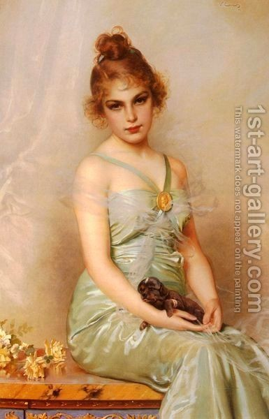 Vittorio Matteo Corcos : The Wounded Puppy