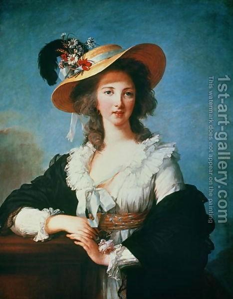 Elisabeth Vigee-Lebrun : Portrait of the Duchess of Polignac c.1749-93